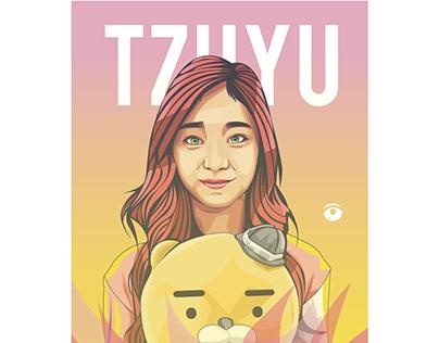 TZUYU MEMBER OF TWICE - VECTOR ILLUSTRATION