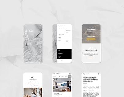 Yanolja WNH hotel website design