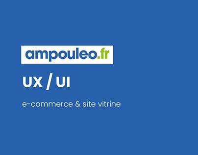 Ampouleo ● e-commerce ● site vitrine ● UX UI