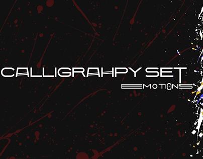 """Emotions"" calligraphy set"