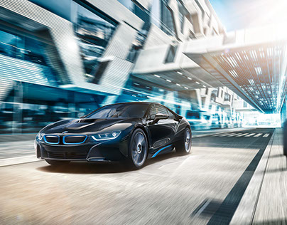 BMW I8 day and night