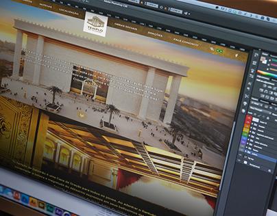 Website Parallax Templo de Salomão - SP
