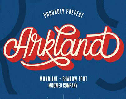 Arkland + Shadow Free Font