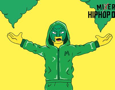 Hip-Hop Open Rap Acts Illustration