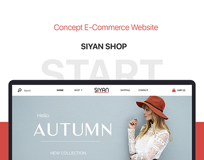 Design Web Site for SIYAN shop. Ecommerce website