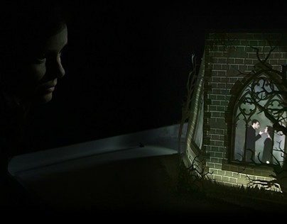 Macbeth Pop up Book with projection