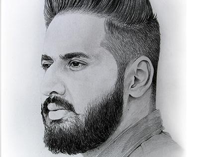 Pencil & Charcoal Sketch by Artist Kamal Nishad