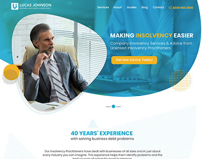 Insolvency Website Design