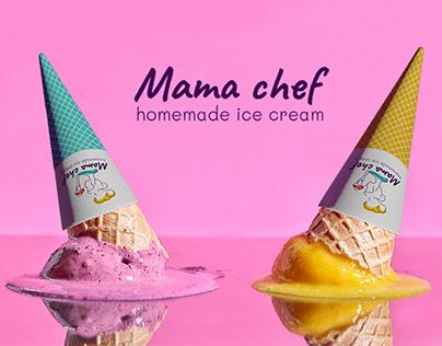 Mama chef homemade ice cream.