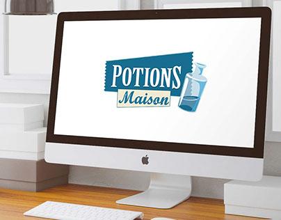 Website Potions maison - Webdesign