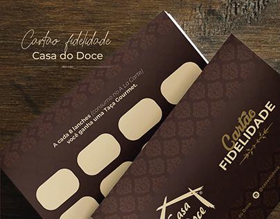 Cartão fidelidade - Casa do Doce