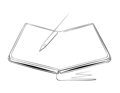 Foldable Smartphone, Continuous Line