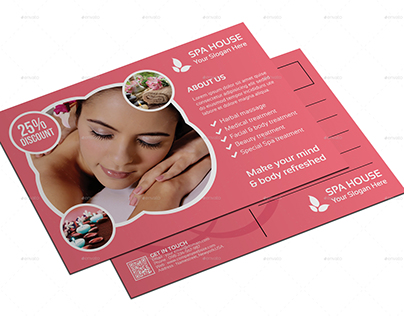 Spa Post Card Templates