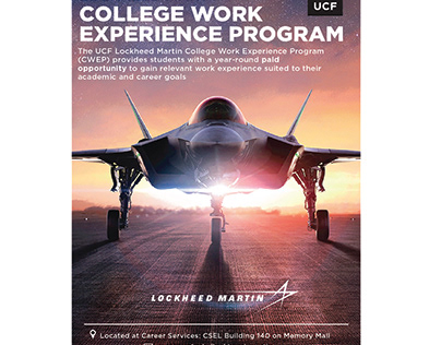 UCF College Work Experience Program Palmcard