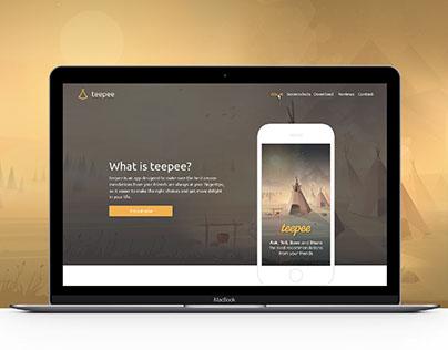 Teepee Landing Page