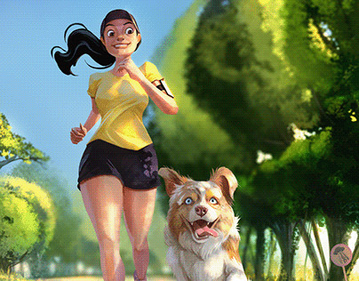Running with Mom