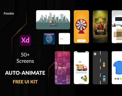 Free Auto-Animate UI Kit | Animation Kit | For Adobe xd