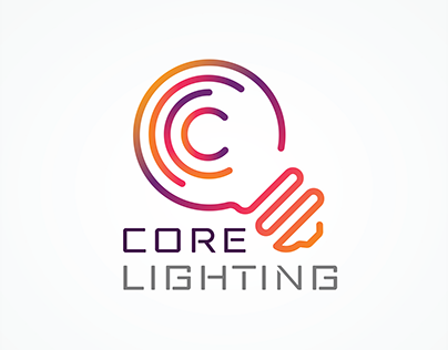 Core Lighting, Branding Project, Approved Logo Design
