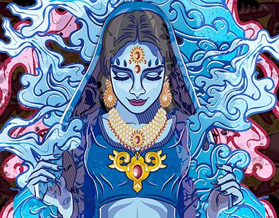 Indian Girl Illustration