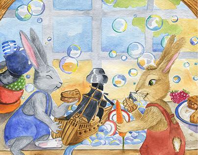 Watercolor children's book illustrations