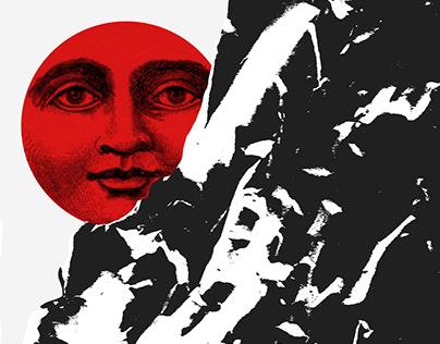 Red-black-white graphics