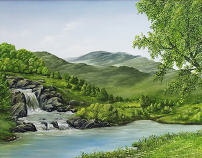 Waterfall meadows