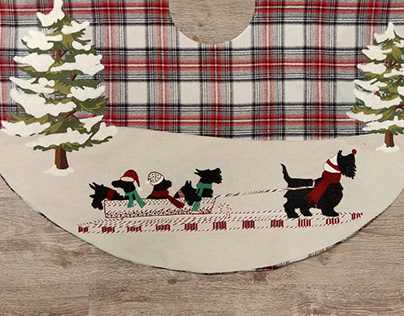 |CHRISTMAS TREE SKIRTS and STOCKINGS |Through the Snow|