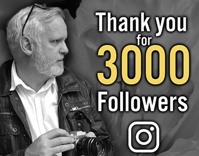 Thank you for 3.000 Instagram Followers