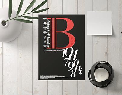 Bodoni Typeface-Poster
