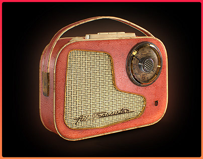 1960s Phillips Radio - Low Poly Game Asset
