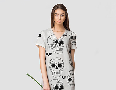 """The Halloween clipart """"Skulls and Bones"""""""
