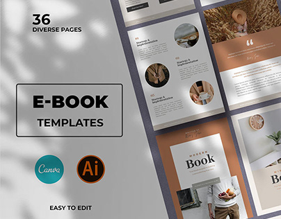Modern Ebook Templates For Canva