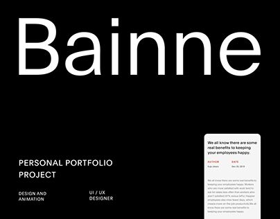 Bainne — Portfolio