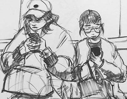 Tokyo Feb-March 2019 Sketchbook