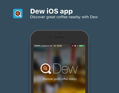 Dew coffee finding iOS app