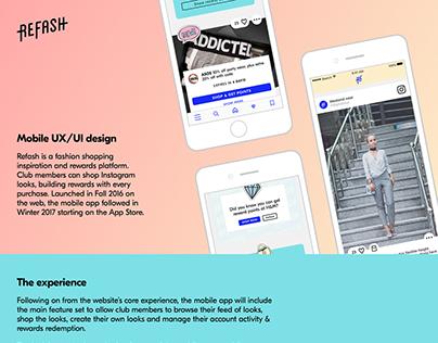 Refash mobile app UX/UI design