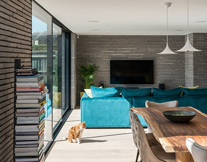 Long Brick House by Bradley Van Der Straeten