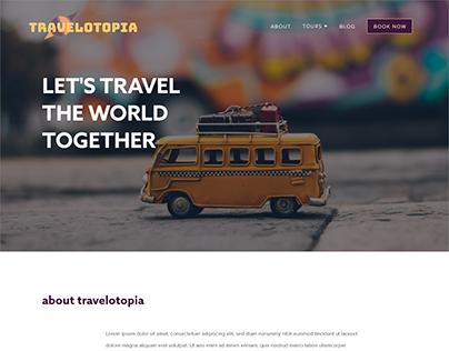 Travelotopia Website Design