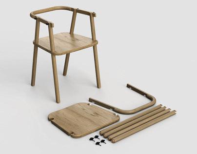 TIGH10 - Wood chair