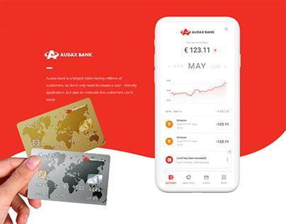 Audax Bank — Concept Mobile Bank App UI UX