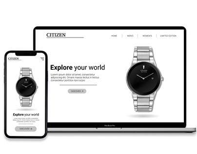 UI Design for Citizen Watch