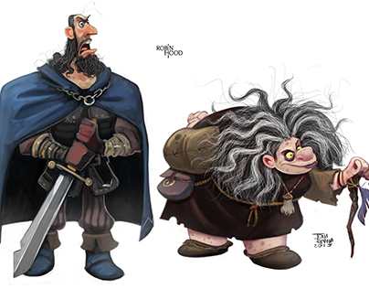 Robin Hood Character design.