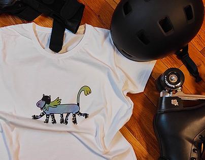 Roller skater t-shirt design