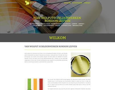 Website Schilderwerken Vanwolput