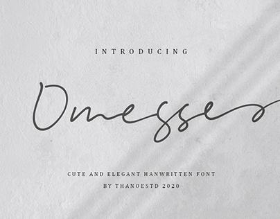 Omesse - A Handwritten Font by Thanoestd