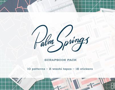 Palm Springs Scrapbook Pack - Illustration