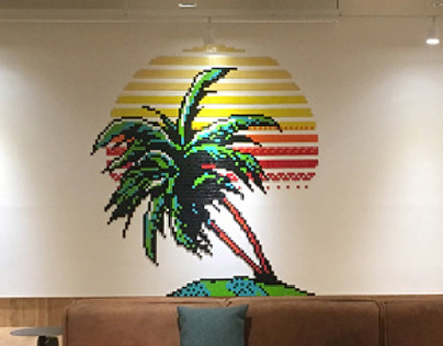 'IMAGINATION' wework mural project / Pixel Art