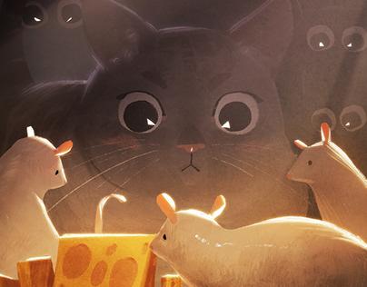 Cats & Rats: 7 Illustrations
