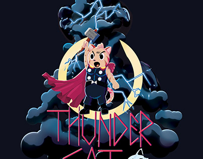 Thunder cat shirt design