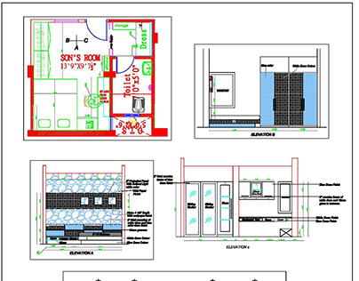 Detailed Autocad 2D drawings